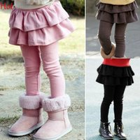 Wholesale New Spring Children Kids Legging Girls Skirt Pants Cake Skirt Girl Baby Pants Tutu Kids Leggings Skirt Pants Pleated Skirt Black Pink