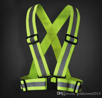 Wholesale 3 pieces freeshipping Safety Clothing Reflective M Fabric Material Strip Tap Band Vest Jacket Sports Outdoor Gear RS Thickened