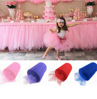 Wholesale Tulle Roll cm m Roll Fabric Spool Tutu Party Gift Wrap Wedding Birthday Decoration Decorative Crafts Festive Supplies