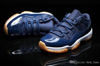 Wholesale Air retro man Basketball Shoes low Navy Gum Blue White Varsity Red Men s Sneakers sports shoes Athletics Boots