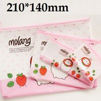 Wholesale 210 mm Korea Cartoon Potato Rabbit series A5 Size File bag pencil bag clean up bag zakka office school supplies