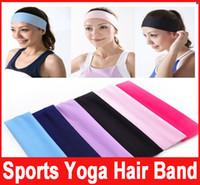 Wholesale New Stretch Headband Sports Yoga hair band Sweat Head Wrap Unisex good Stretch Bandanas colors