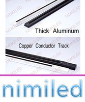 aluminum conductor - nimi963 LED Lamp M Track Rail Lighting Spotlights Universal Aluminum Clothing Two wire Copper Conductor Rail Track Or Track Connector