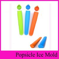 Wholesale middle Size cm Colors Silicone Popsicle Mold Push Up Homemade DIY Delicuous Ice Cream Jelly Lolly Pop Maker