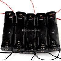 Wholesale 5Pcs No N Battery Case Holder Box with cable Black G00115 OSTH