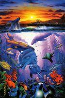 abstract christian art - Original US High tech HD Print Oil Painting Art On Canvas Christian Riese Lassen Baywatch x36inch Unframed