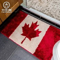 american canadian flags - Fashion Canadian Flag Maple Leaves Shower Room Carpet Water Uptake Mat Antiskid Doormat With Size mm mm mm mm