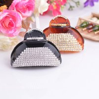 Wholesale cm Women Fan Shaped Small Hair Claw Rhinestone Hair Claw Jewelry Costume Hair Accessories