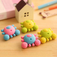 Wholesale 20pcs Crab Creative Eraser Rubber Eraser Cute Lovely Stationery Student Prizes Children Gift Office School Supplies Material Escolar
