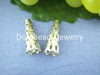 Wholesale DoreenBeads Lovely Silver Plated Nail Spacers Beads Caps mm B00345