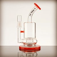 accent online - 2016 new in toro bubbler with isf perc red orange accents glass bongs for sale cheap bongs online