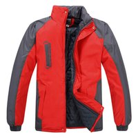 age ski - Fall Autumn winter cotton padded jacket guanggu shan Add more cotton outdoor overalls ski wear middle aged cotton padded clothes