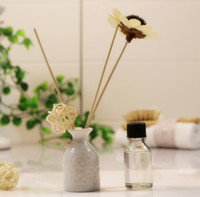 Wholesale Shipping special mini no fire aromatherapy essential oils aromatherapy flower set rattan bedroom sleep room perfume