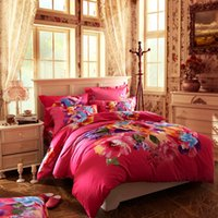 applied machines - Cotton reactive printed cotton a family of four bedding apply sheets Kits Bedclothes sets Fitted sheets kinds of patterns