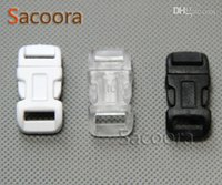 Wholesale 30pcs quot mm Curved Side Release Plastic Buckle For Paracord Survival Bracelet Dog Collar