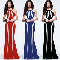 Wholesale 2016 European Foreign Trade New Pattern Evening Gowns Halter Self cultivation Spelling Color Zuhair Murad Dress Longuette Dresses
