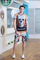 sweat suits - Casual Mens Tracksuit Set Summer Crewneck Sport Tracksuits Men Brand PHILIPP PLEIN Short Sleeve Sweat Suit T Shirt Men s Sportswear