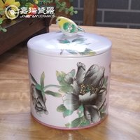 art caddy - Fashion ceramic Caddy Chinese Art And Crafts Hand made flower and bird design Home Accessories