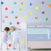 baby nursery patterns - Colorful Dots Pattern Wall Sticker Easily Apply Removable Waterproof PVC No Pollution Material For Kids Baby Room Decoration Wall Decor