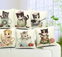 artistic knitting - Simple artistic style cute animals cats meow star people combination cushion pillow series