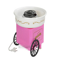 <800W bamboo cart - Household carts full of retro mini cotton candy machine electric cotton candy machine to send bamboo teaspoon of household child