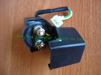 Wholesale 2 wire Starter Solenoid Starter Relay with rubber sleeve for stroke Scooter Moped ATV GY6 cc QMB QMI QMJ