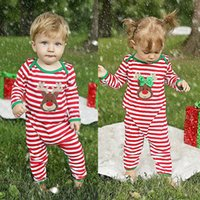 baby boy presents - 2016 top sale christams gift suits Baby Girl Boy striped goood quality kids Clothes Pajamas Outfit Newborn children present Bodysuit Romper