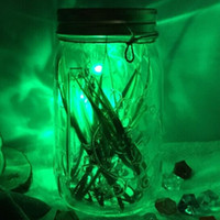 ball swivels - Simulation firefly night light Firefly jars glass sun cans creative gifts LED luminous fireflies cans firefly bottles led