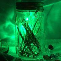 ball glass jar - Simulation firefly night light Firefly jars glass sun cans creative gifts LED luminous fireflies cans firefly bottles led