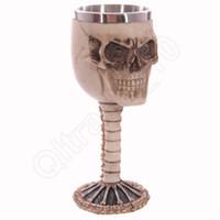 goblet - LJJG334 Stainless Goblet Skull Goblet Stainless Steel Inner Skeleton Skull Goblet Mug Drinkware Cup Wine Cup Drinking Cup