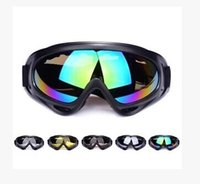 Wholesale New Cycling Bike Motorcycle ATVMotocross Ski Snowboard Off Road Goggles Fits Over X400 UV Cycling Ski Glasses CS Action DHL Free