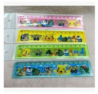 Wholesale Student Rules Student Pikachu Cute Poke Cartoon Plastic Ruler Moster Go Measuring Ruler Tool Promotional Gift Stationery Poke school ruler