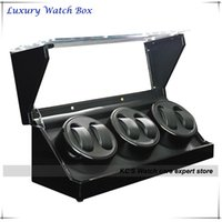 Wholesale High Quality Handmade Automatic Watch Winder Watches Watches Black with Clear Window Box GC03 D102BB
