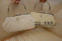 Wholesale 2016 Crystal Pearl Evening Bag Fashion Women Clutch Purse Ladies Chain Handbag Bridal Wedding Party Purse Bag bolsa mujer
