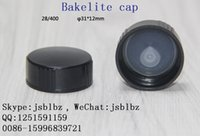 Wholesale Factory price black Bakelite cap for Glass bottle and Health food bottles High quality made in china Dozen