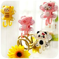 Wholesale 1X Utility Family Necessary Cute Cartoon Stable Suction Strong Seamless Stick Hooks Types