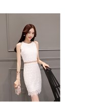 chain link fence panels - 2016 summer new women Slim sexy fashion simple chain link fence hollow strapless lace stitching package hip dress