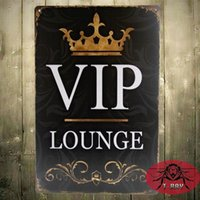 Wholesale The VIP Lounge TIN PLATE SIGN Metal Decor Wall Art Auto Shop Garage H