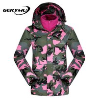 Wholesale Snowboard Suit Women Winter warm Camouflage Leisure Ski Coat Waterproof Outdoor Female Plus Size Sportswear