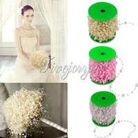 Wholesale 10 Meters Long Fishing Line Pearls Beads Chain Garland Flowers Wedding Party Decoration Bridal Faux Pearl Fascinators Bead Chain