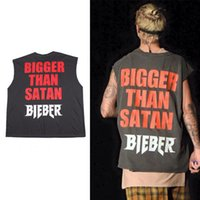 basketball tanks - Justin Bieber Fear of god Tank Tops Yeezy Season3 Summer Style Men s Fashion basketball Vest swag Kanye bigger Than Satan Bieber