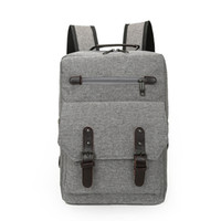 Wholesale Fashion business men women cotton backpacks school book bags travel causal handbags for boy or girl customized logo