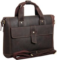 Genuine Leather ancient messenger bags - British restoring ancient ways Real Leather men s Handbag bags man business portfolio leather shoulder bag Briefcase Messenger Bag