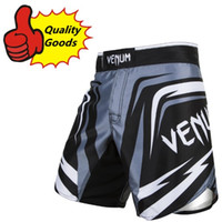 Wholesale MMA SHARP Black fight shorts Muay Thai boxing