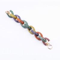 accessorize bracelets - Fashion Crystal Studded Rhinestone Paved Link Chain Bracelet Cheap bracelet tray High Quality bracelet accessorize