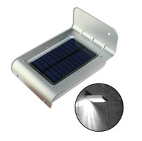 Wholesale 16 LED Solar Power Light Outdoor Waterprof Body Motion Sensor Wall Lamp Camping Garden Light Energy saving Lamps Warm Pure Cold White