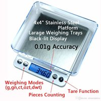 Wholesale 500g x g Portable Digital Jewelry Precision Pocket Scale Weighing Scales Mini LCD Electronic Balance Weight Scales Fedex DHL