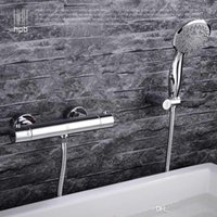Wholesale Han Pai Brass Thermostatic Bathroom Hot And Cold Water Bathtub Mixer Bath Shower Faucet torneira banheiro HP6101