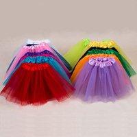 Wholesale Baby Girls Childrens Kids Dancing Tulle Tutu Skirts Pettiskirt Dancewear Ballet Dress Fancy Skirts Costume