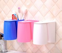 bathroom organization - Fashion Space saving Toothbrush Holder set Wash Set Toothbrush Holder Toothpaste Cup wash Organization Bathroom Accessories